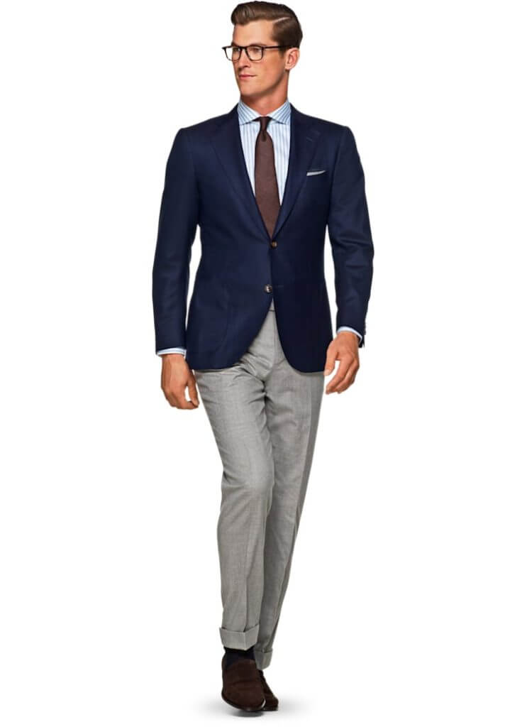Suit Supply's Jort Blue Plain Jacket — Professional Clothes for People Who Sweat