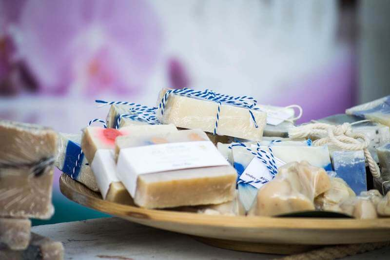 All-natural antibacterial bath soap