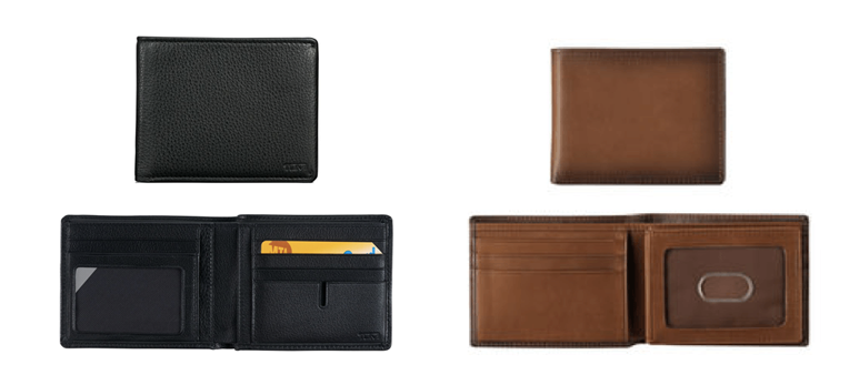 Tumi ID Lock Global Double Billfold Wallet or Johnston & Murphy Flip Billfold Wallet
